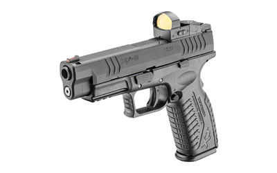 The Springfield Armory XDM OSP is a 9mm Full Size 19 round Handgun with a black polymer frame designed for duty