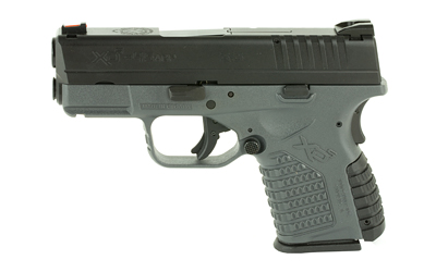 The Springfield Armory XD-S is a .45 ACP Sub Compact 6 round Handgun with a 3.3 inch Barrel and Grey polymer frame designed for concealed carry