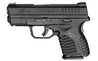 The Springfield Armory XD-S is a 9mm Sub Compact 8 round Handgun with a 3.3 inch Barrel and Black polymer frame designed for concealed carry