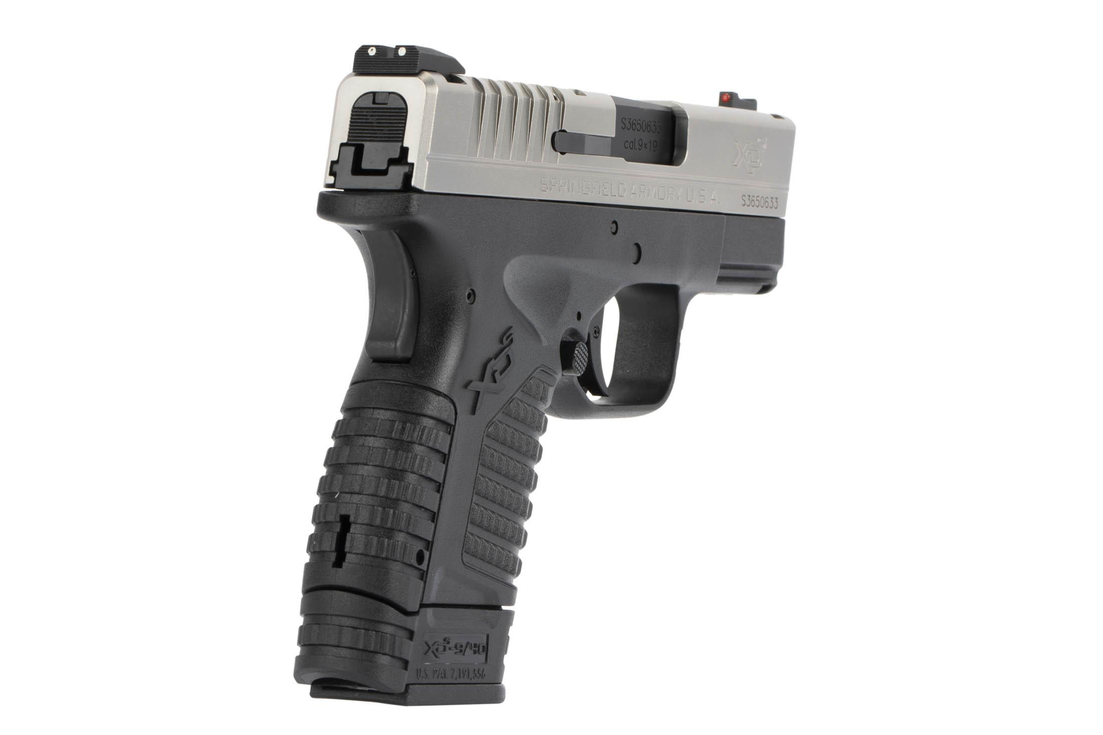 The Springfield Armory XD-S is a 9mm Sub Compact 8 round Handgun with three dot fiber optic iron sights