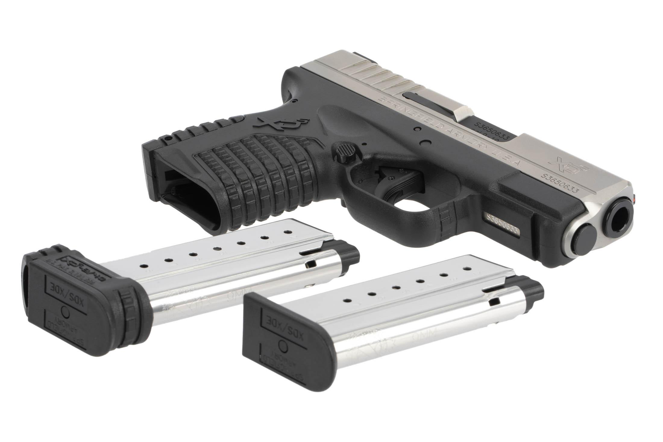 The Springfield Armory XD-S is a 9mm Sub Compact 8 round Handgun with two magazines