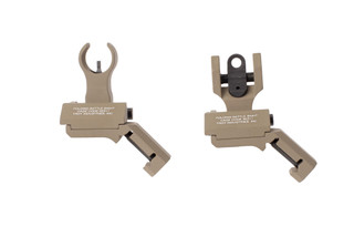 The Troy Industries offset folding battle sights set feature an HK front and round rear
