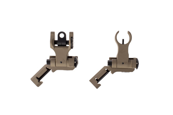 The Troy offset battle sights set are extremely rugged and machined out of 6061 aluminum