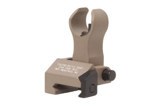 The Troy Industries folding front battle sights feature the HK style with a flat dark earth finish