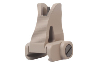 The Troy Industries fixed front BattleSight features the M4 Style and a flat dark earth finish