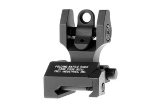 The Troy Industries rear folding battlesight is machined from aluminum and features an aperture