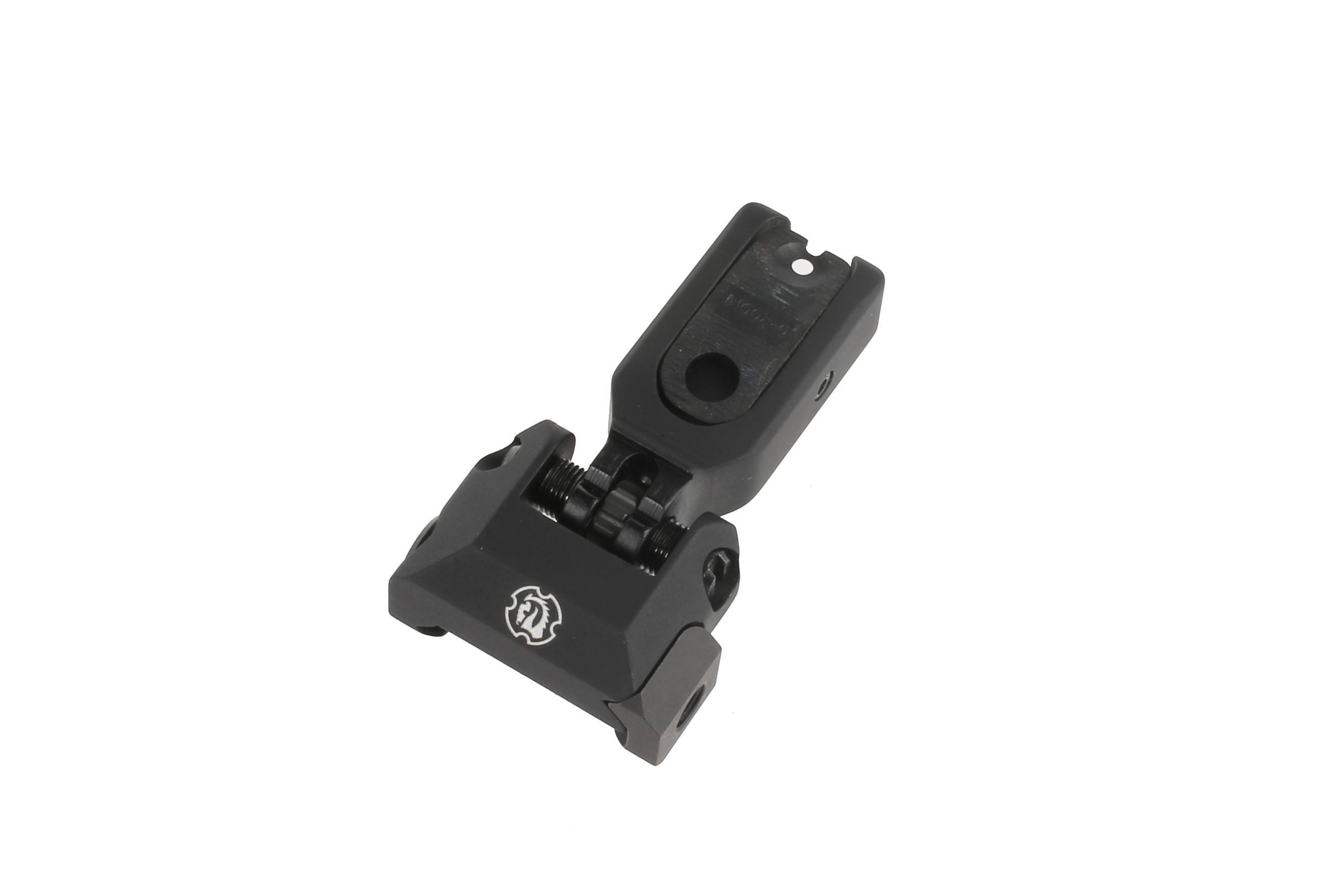 Troy SOCC (Special Ops Compatible) Low Profile Rear Folding Battlesight - Black