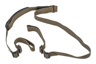 Troy Industries two point rifle sling non-padded features green Nylon webbing and polymer buckles