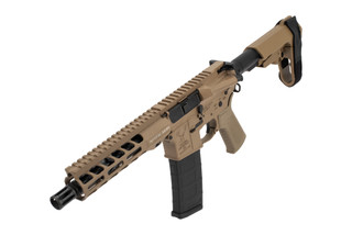 Stag Arms Stag15 AR15 Pistol features a flat dark earth finish