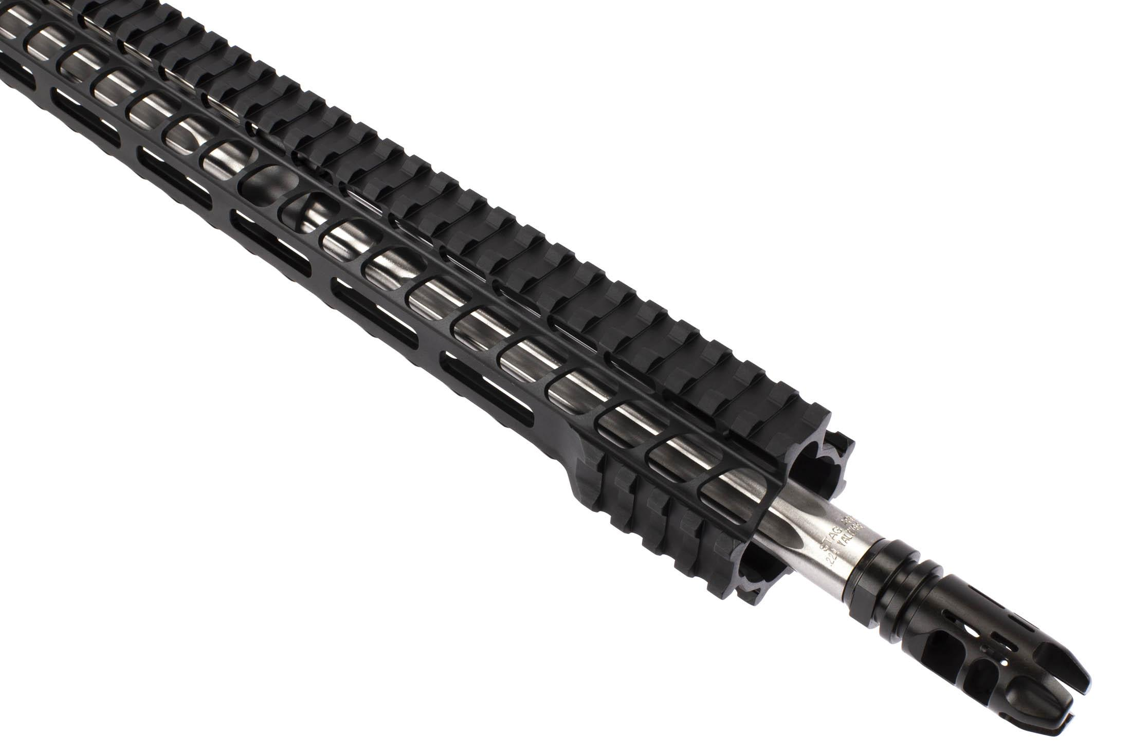 Stag Arms .224 Valkyrie STAG-15 with 18in barrel is threaded 1/2x28 with a VG6 Epsilon Compensator