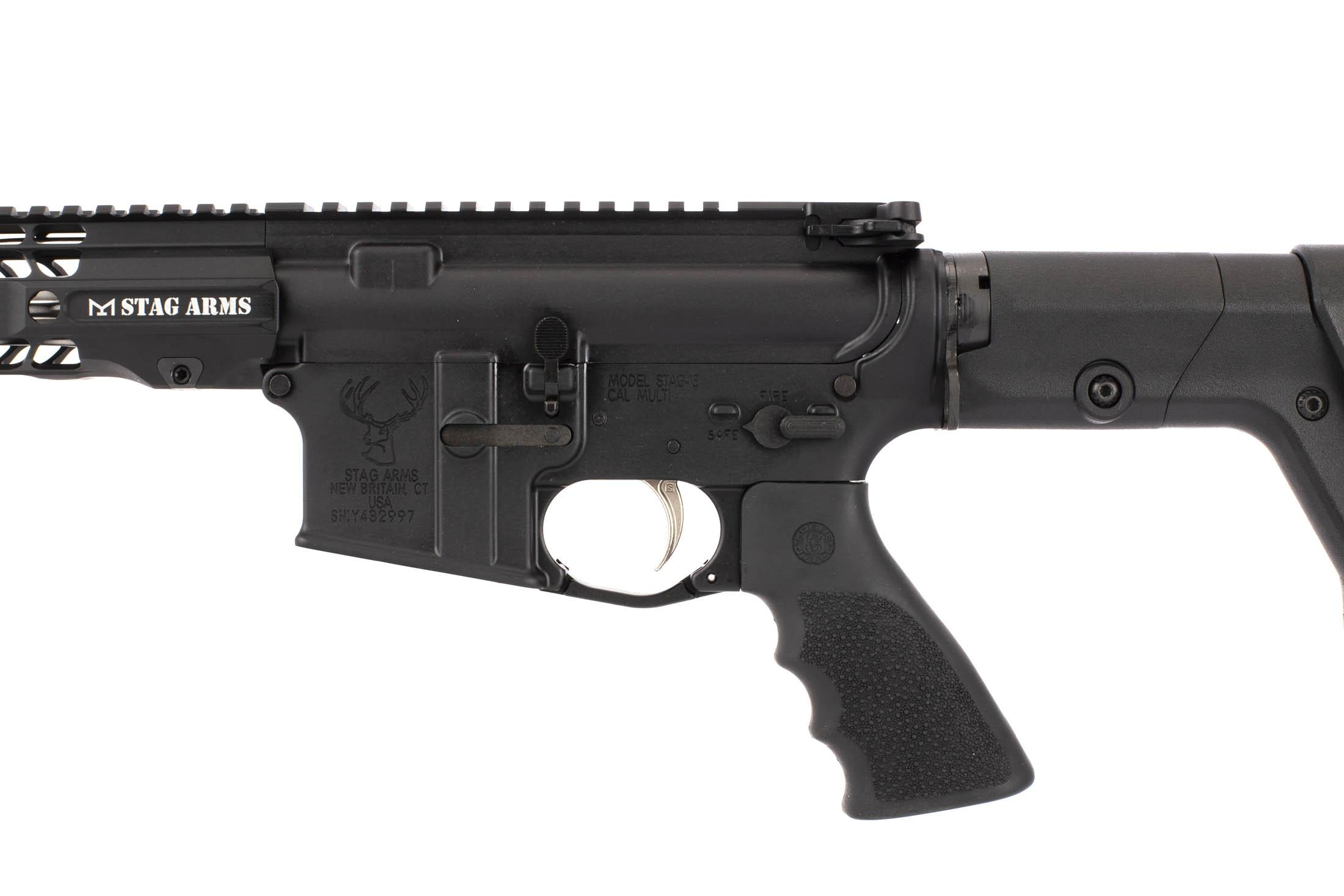 Stag Arms 18in .224 Valkyrie complete rifle with extended trigger guard and reliable MIL-SPEC components.
