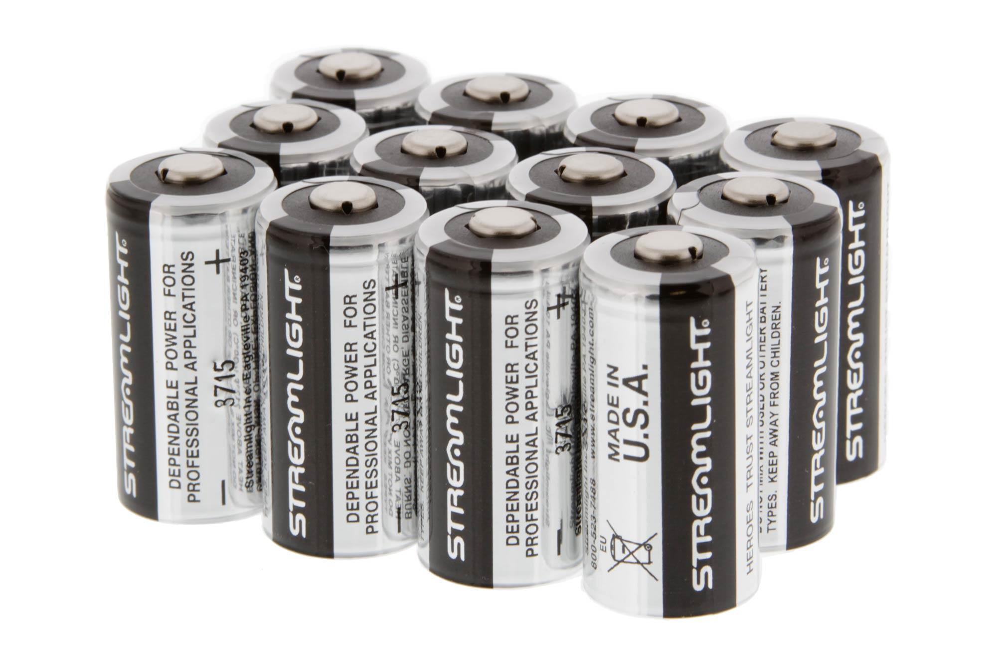 Streamlight Cr123a 3v Lithium Batteries 12 Pack Stl85177 12pk