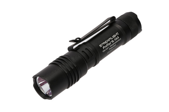 The Streamlight ProTac 1L-1AA 350 Lumen Dual Fuel Tactical Flashlight is designed for edc
