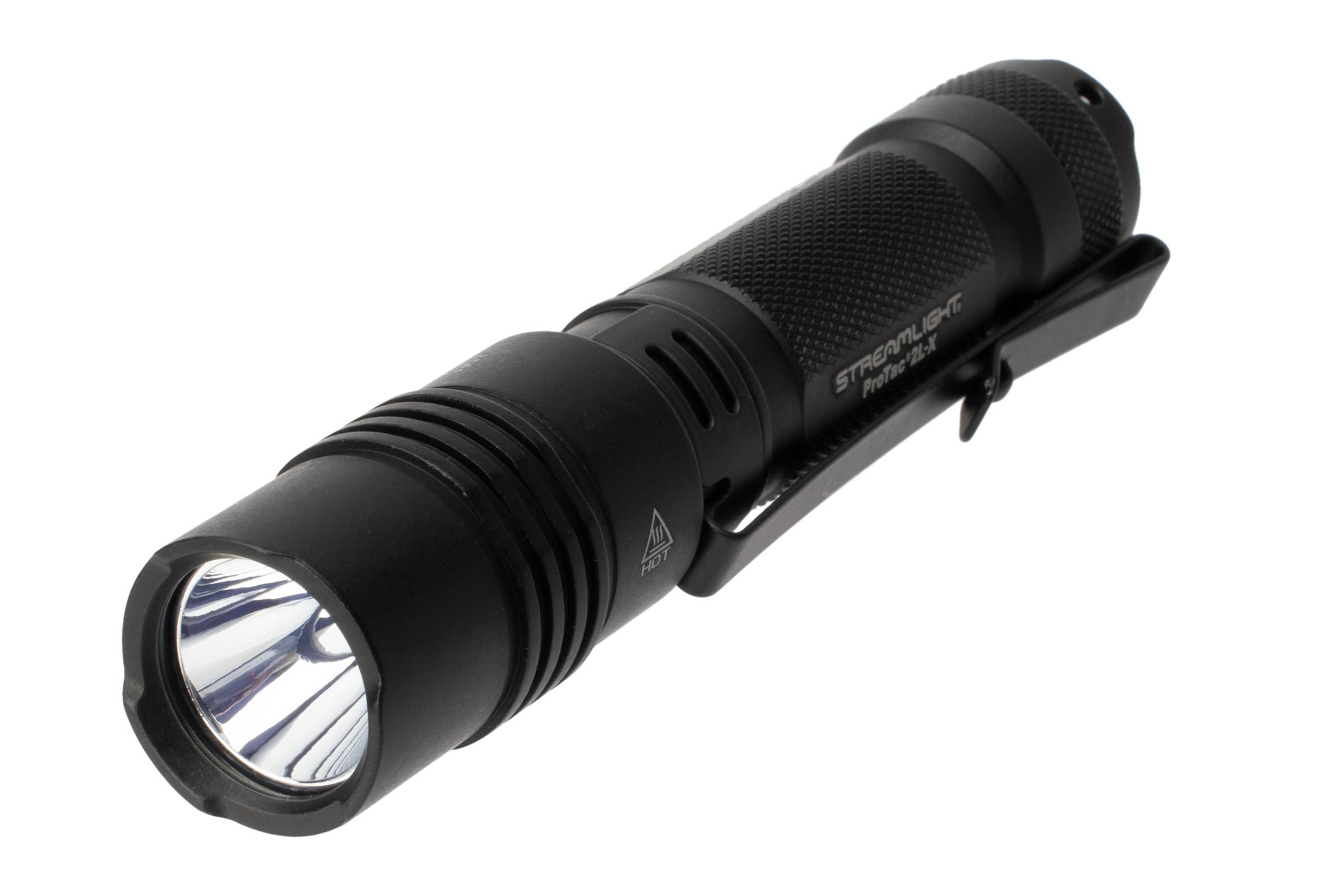 The Streamlight ProTac 2L X dual fuel tactical flashlight outputs 500 lumens