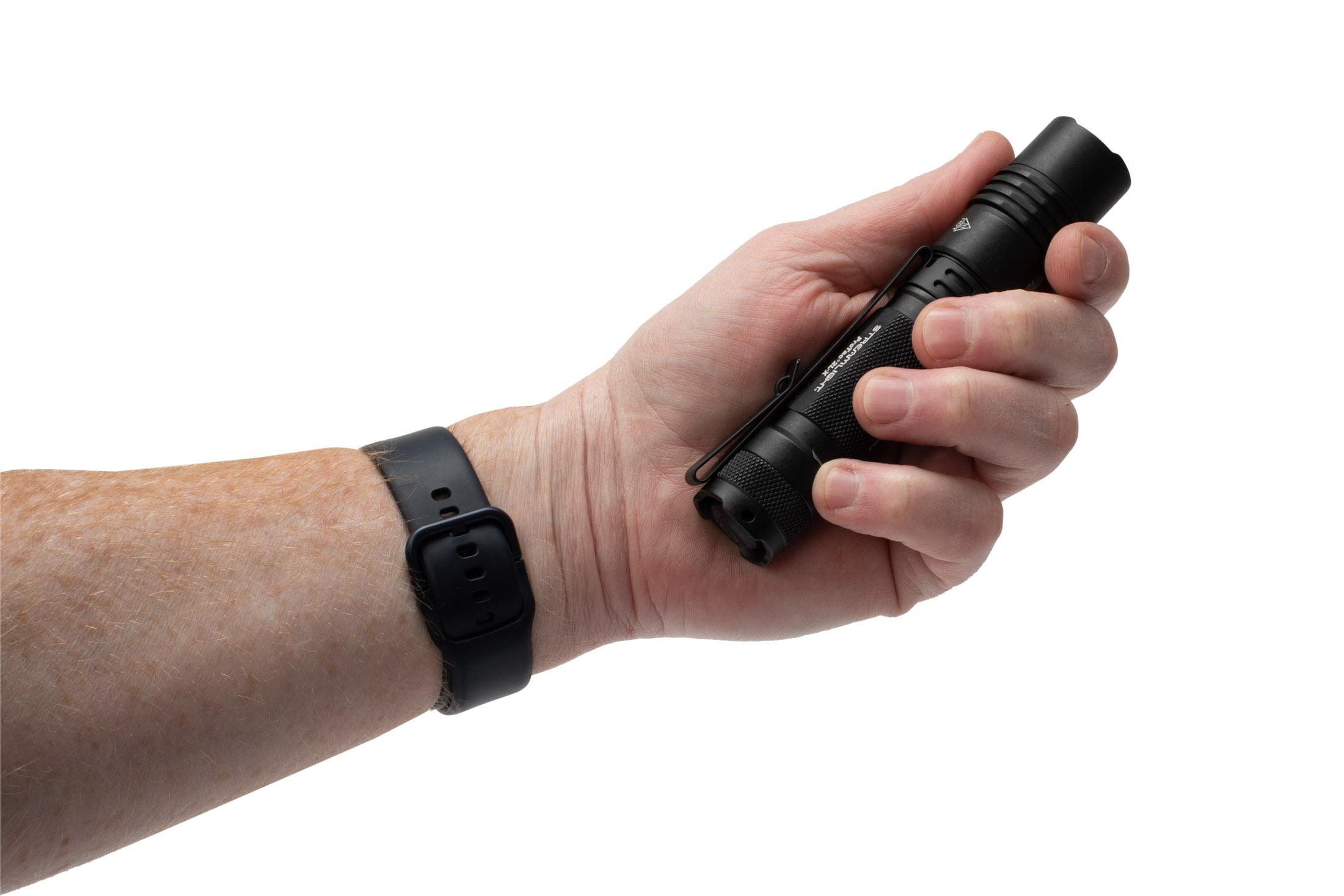 The Streamlight ProTac 2L X 500 Lumen flashlight comes with a nylon case