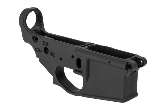 The Spike's Tactical Stripped ar-15 multi caliber Forged lower receiver with Punisher logo full auto markings