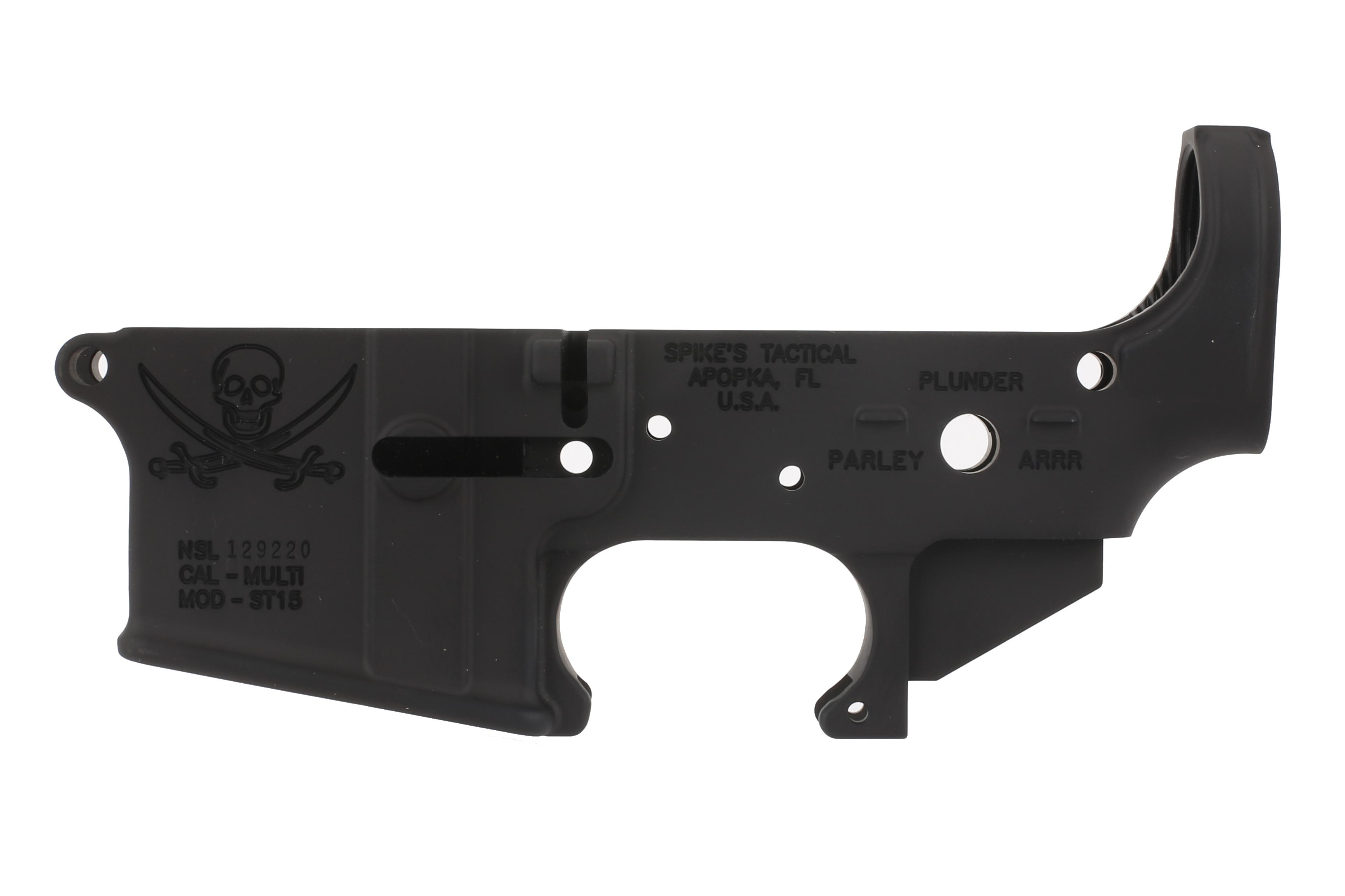 Spike's Tactical Calico Jack Stripped AR-15 Lower Receiver