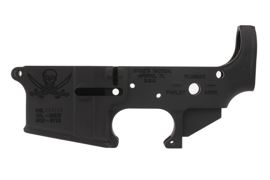 The Spikes Tactical Stripped AR15 Lower Receiver is a forged mil-spec receiver that uses standard lower parts kits