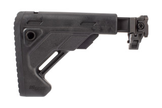 SIG Sauer Telescoping Folding Stock for MPX and MCX rifles features a picatinny rail mount