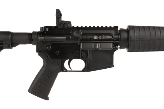 The Spikes Tactical ST15 Carbine features a Magpul MBUS rear sight