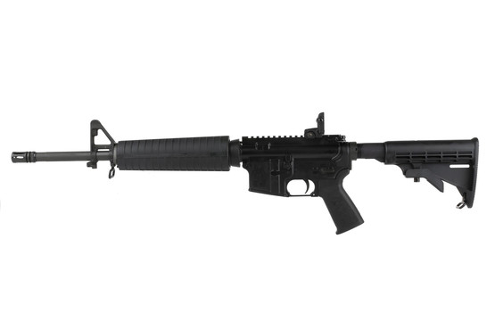 The Spikes Tactical 5.56 AR 15 carbine 16 inch barrel is assembled with a Mil-Spec parts kit