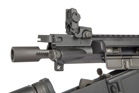 The Spikes Tactical 5.56 NATO rifle comes with a phosphate coated bcg and standard charging handle