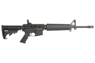 Spikes Tactical 556 AR15 rifle features a 16 inch cold hammer forged barrel