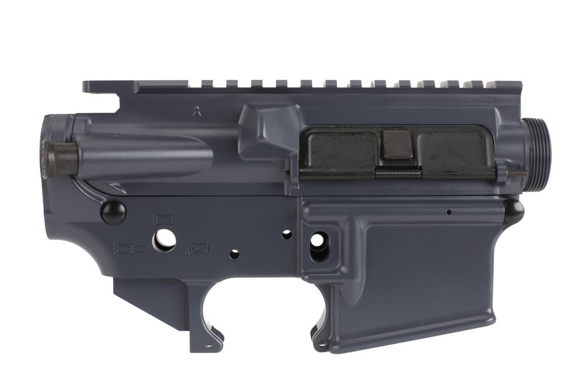 The Spike's Tactical upper and lower Gray receiver set is compatible with Mil-Spec parts