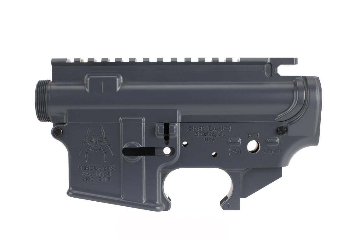 Spike's Tactical Stripped Lower/Upper Set - Gray
