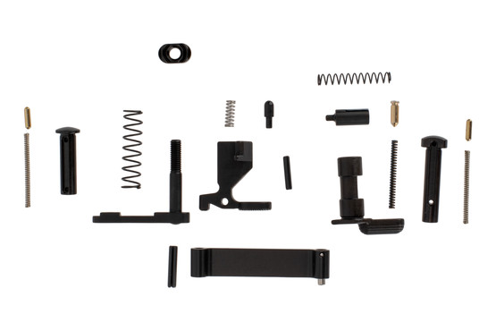 San Tan Tactical AR-15 lower receiver parts kit is a high quality kit without pistol grip or fire control group since you were gonna replace those anyway.