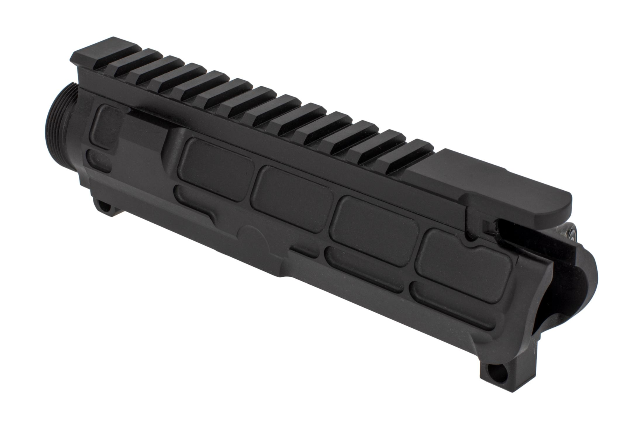 San Tan Tactical AR 15 billet upper in the PILLAR line features an AESTHETIC pocketed look for reduced weight