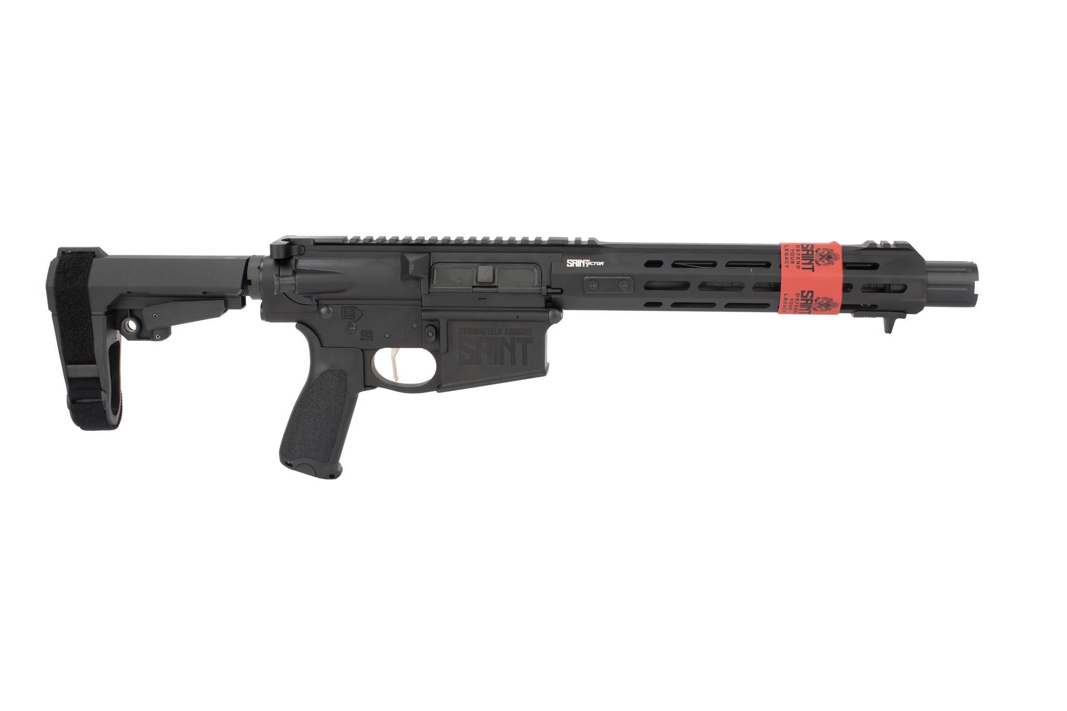 Springfield Armory Saint .308 AR 10 Pistol features a 10.3 inch barrel