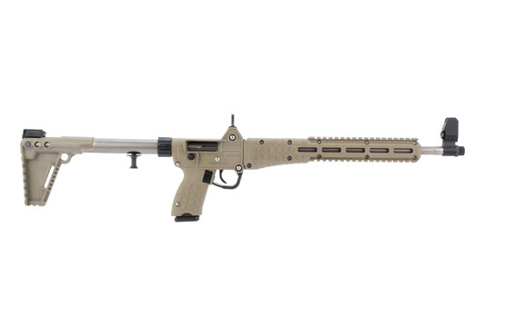 Kel Tec Sub2000 9mm pistol caliber carbine features a nickel boron finished barrel
