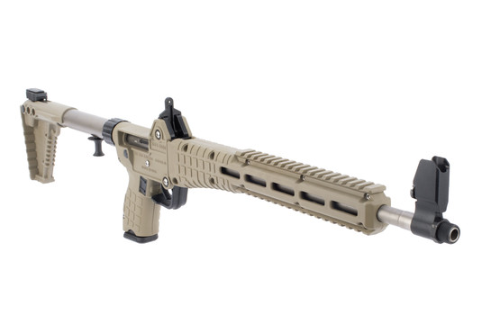 KelTec Sub2000 pistol caliber carbine features a flat dark earth stock