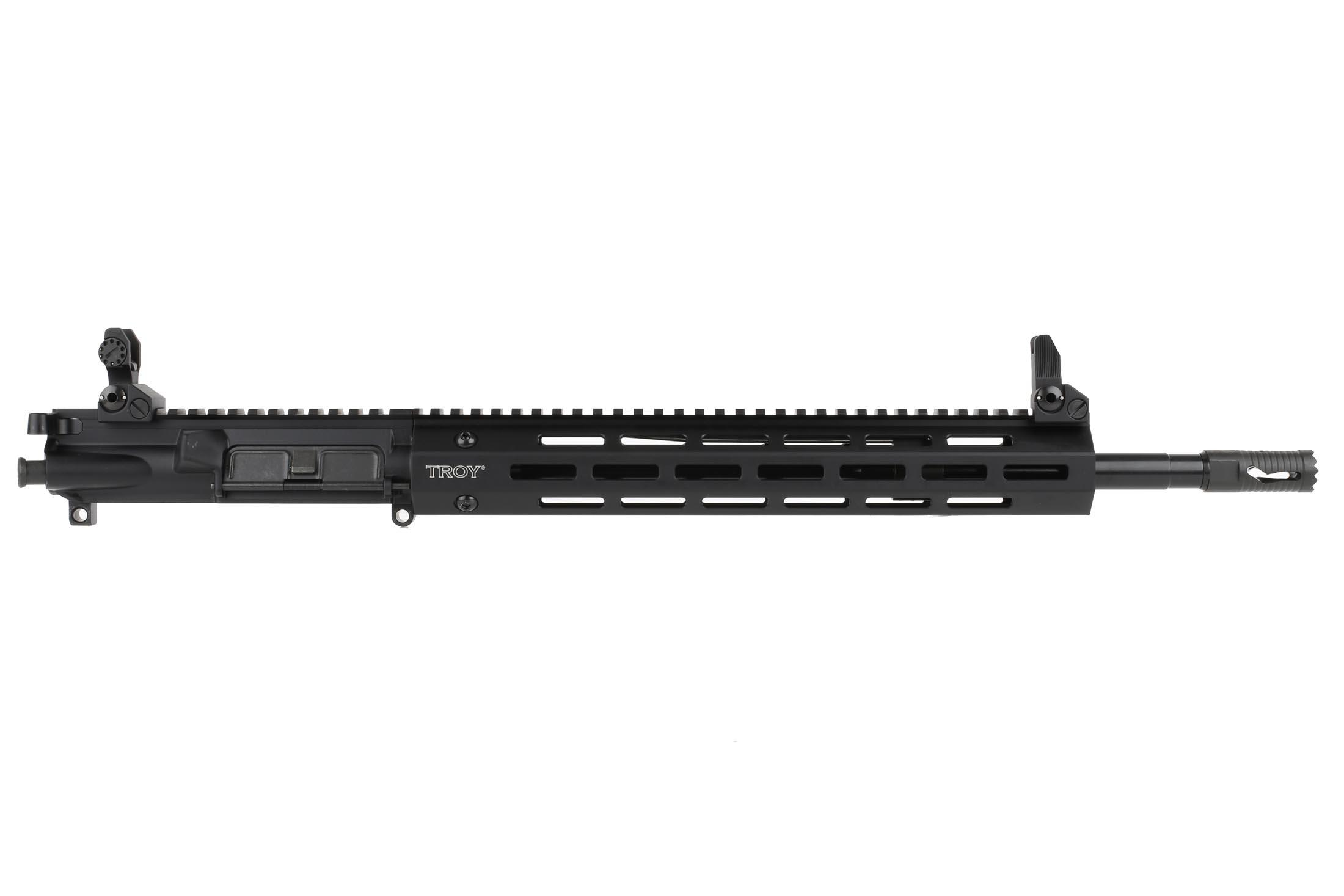 "Troy Industries 16 5.56 Complete Upper with 13"" M-LOK Rail and Flip Up BattleSights - Black"