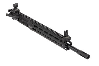 Troy Industries 14.5in complete mid-length AR15 upper receiver is range ready with flip-up BattleSights and an 11in M-LOK rail