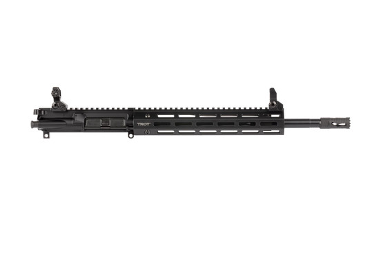 Troy Industries complete AR-15 upper with 14.5in government contour barrel features a soft-shooting mid-length gas system