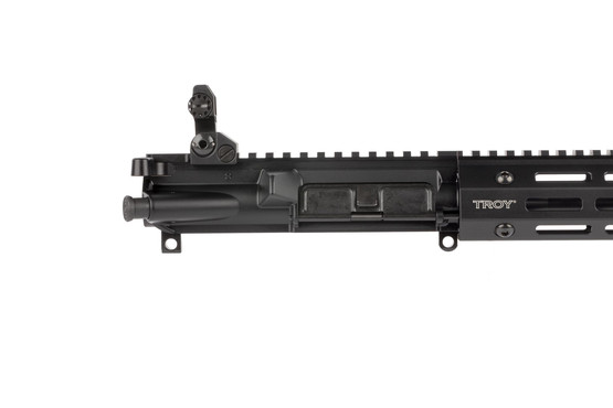 Troy Industries 14.5in AR15 complete upper is factory equipped with a high-quality Troy BattleSights