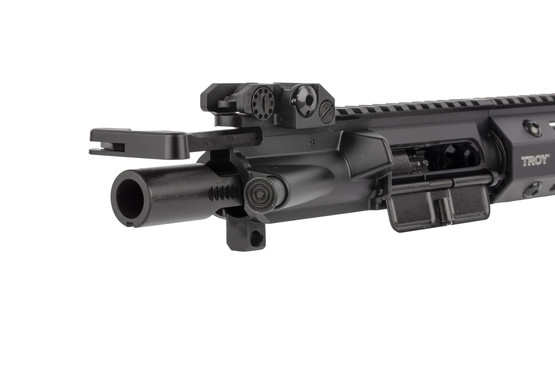 Troy Industries 14.5in complete ar-15 upper half uses an M16-cut bolt carrier group and MIL-SPEC charging handle