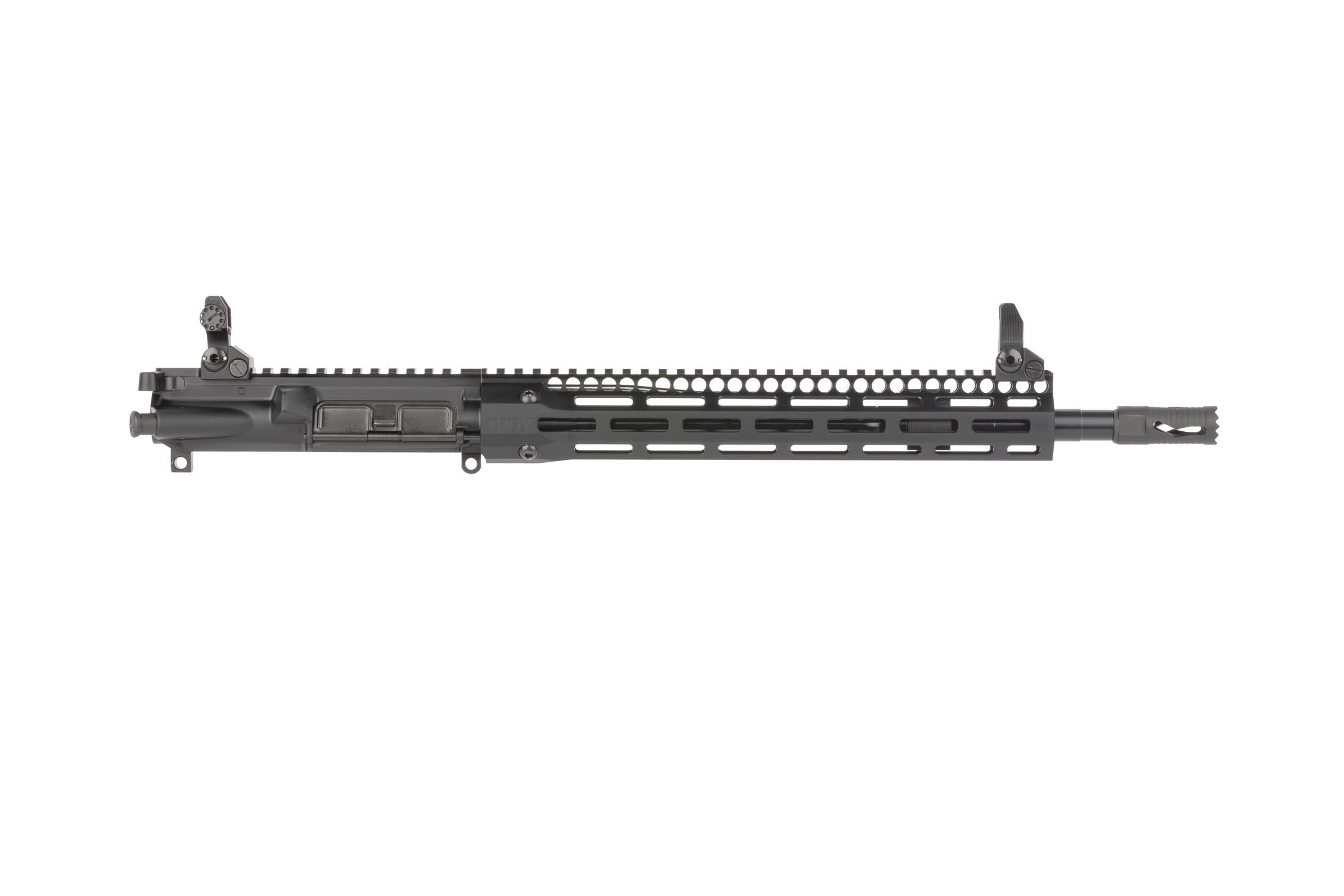 Troy Industries 14.5in SOCC complete upper features a nitrided barrel with smooth shooting mid-length gas system