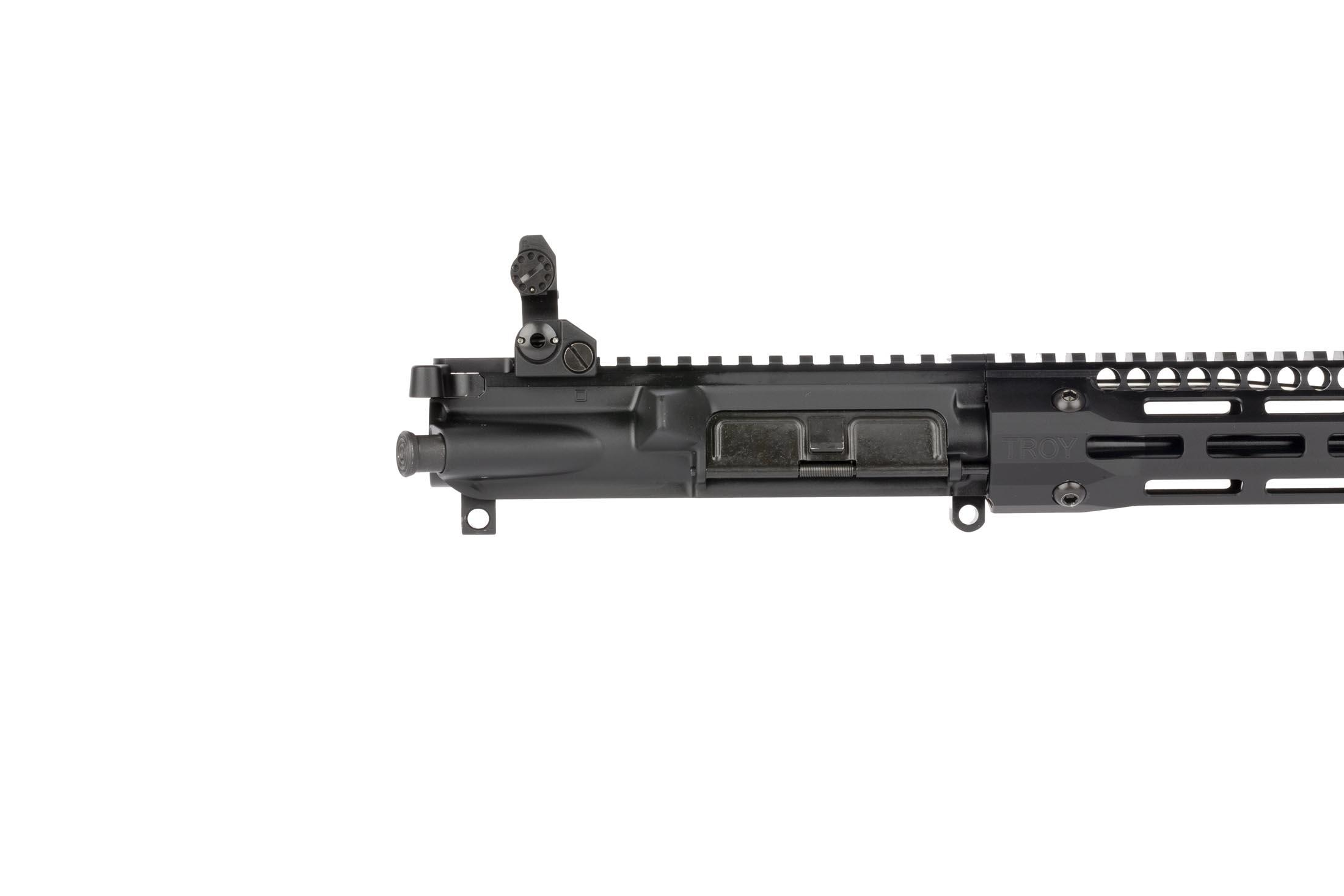 Troy Industries complete SOCC AR 15 upper receiver is built on an M4 upper equipped with Troy Industries BattleSights!