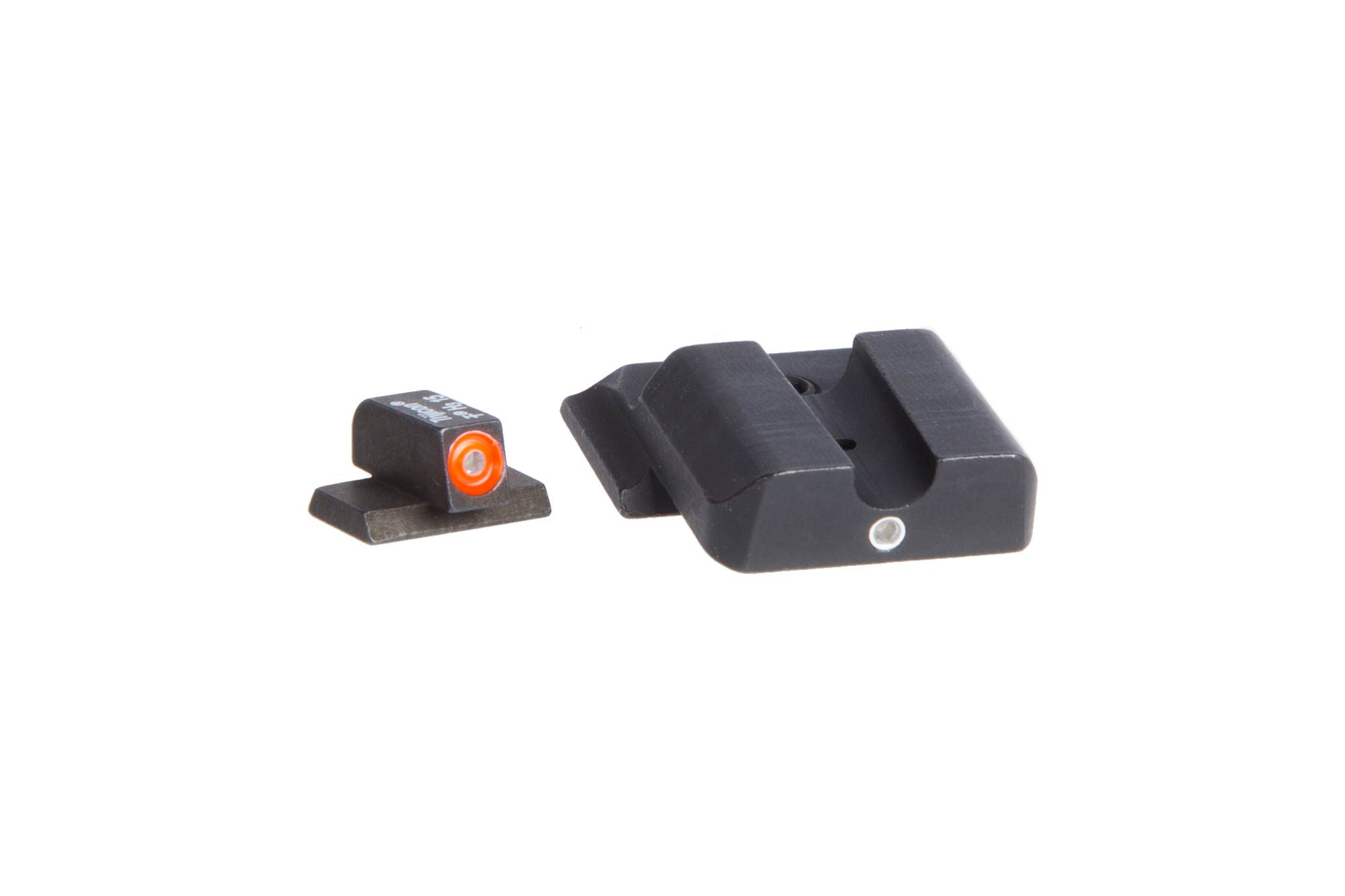 The Ameriglo PRO I-DOT Smith and Wesson Shield night sights set feature green Tritium inserts for low light visibility