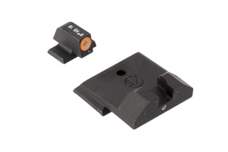 XS Sights F8 night sights for Springfield and SIG Sauer handguns feature a large, high vis orange outline front sight for rapid acquisition
