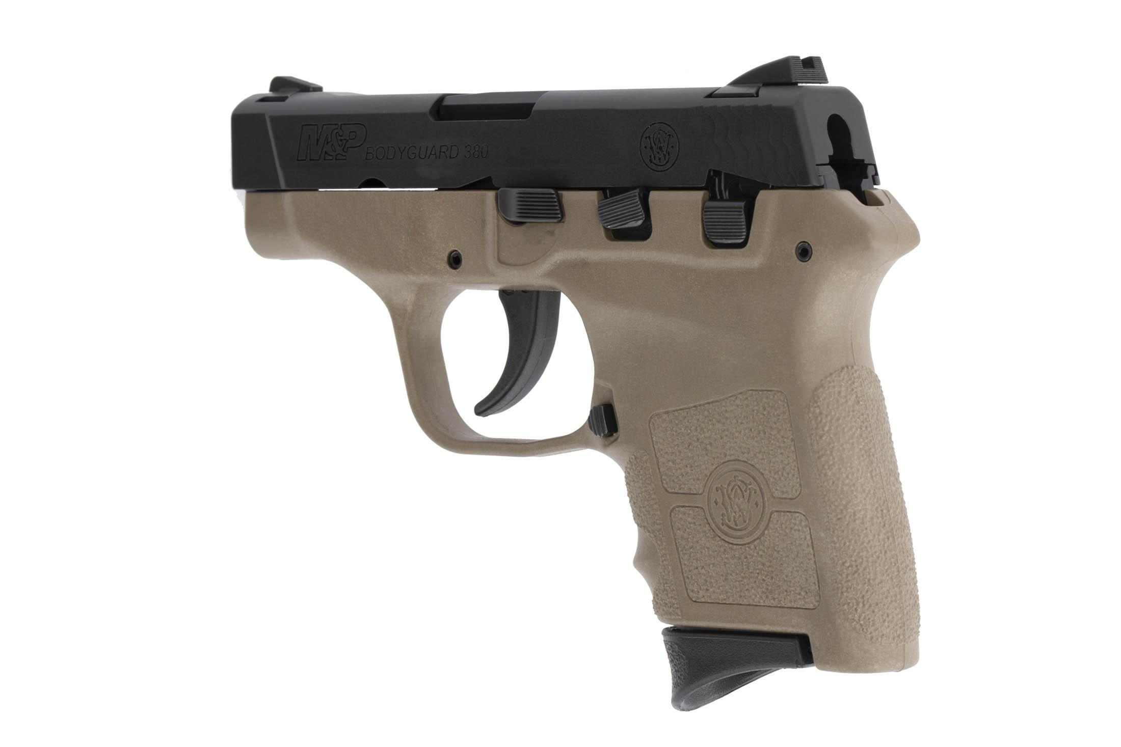 The Smith & Wesson M&P Bodyguard is a .380 ACP Sub Compact 6 round handgun with a polymer frame