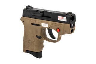 The Smith & Wesson M&P Bodyguard is a .380 ACP Sub Compact 6 round Handgun with integrated laser in the polymer FDE frame