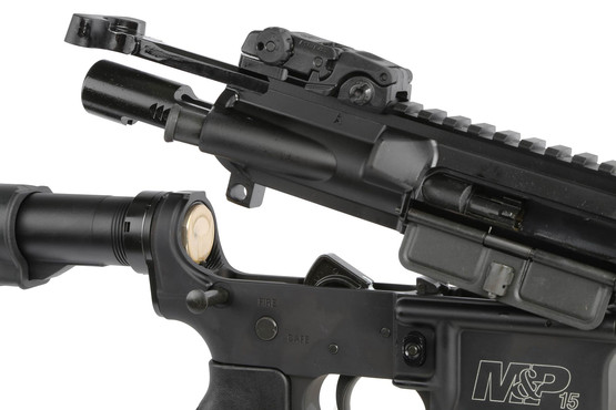 The S&W M&P comes with an AR-15 cut bolt carrier group