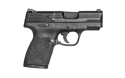 The Smith & Wesson M&P Shield .45 ACP Sub Compact 7-Round Handgun has a polymer frame and improved trigger