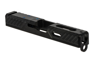 The Agency Arms Syndicate S1 Glock 19 Gen 3 Stripped Slide features the AOS optic mounting system
