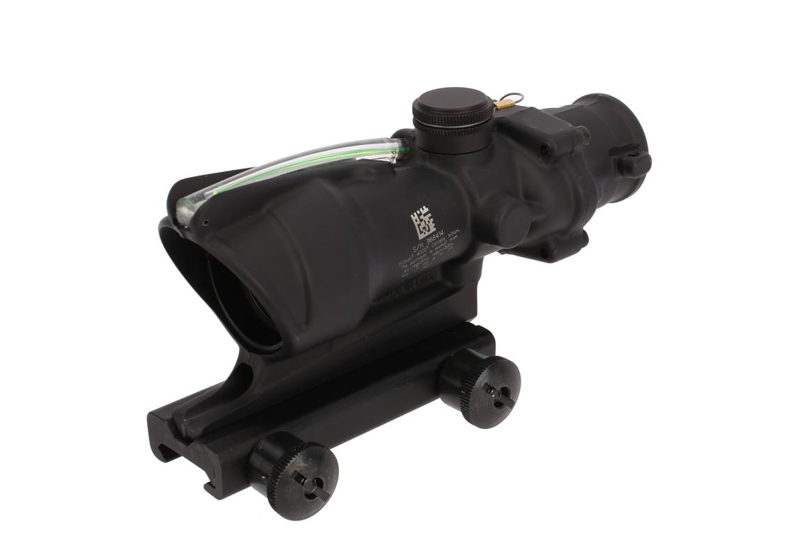 The Trijicon ACOG ACSS rifle scope features a large field of view