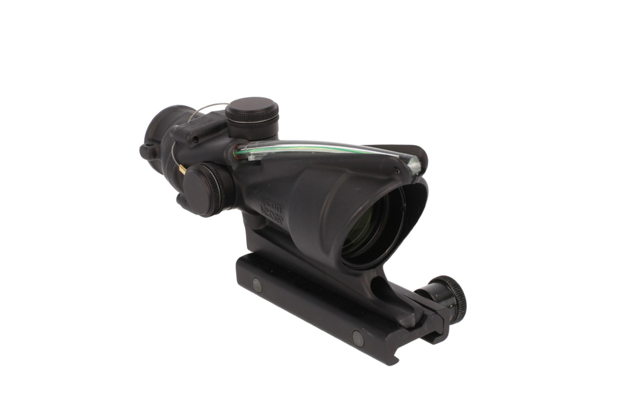 The Trijicon ACOG ACSS Aurora 4x32mm Scope with Dual Illuminated green reticle with tritium inserts